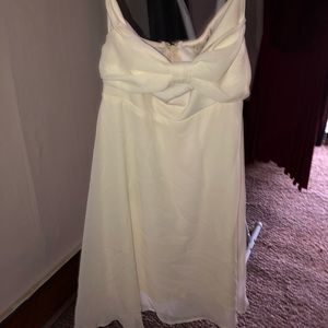 White strapless dress new